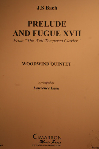 "Bach, J.S. - Prelude & Fugue XVII (From ""The Well-Tempered Clavier"")"