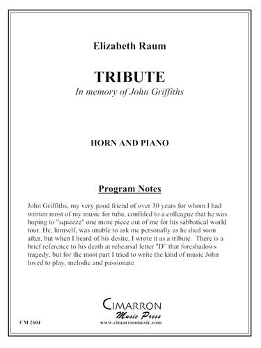 Raum, Elizabeth - Tribute (in memory of John Griffiths) (image 1)