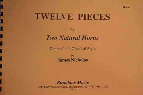 Nicholas - 12 Pieces for 2 Horns