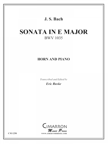 Bach, J.S. - Sonata in E Major BWV 1035
