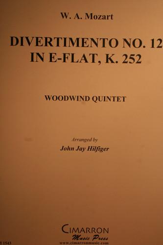 Mozart, W.A. - Divertimento No.12 In Eb, (K.252)