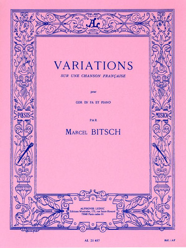 Bitsch, Marcel - Variations on a French Song