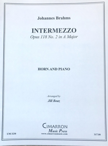 Brahms, Johannes - Intermezzo, Opus 118 No. 2 in A Major