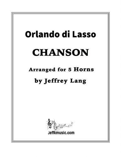 Lasso, Orlando di - Chanson