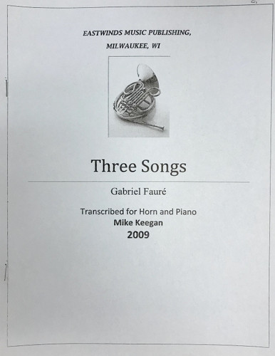 Faure, Gabriel - Three Songs (image 1)