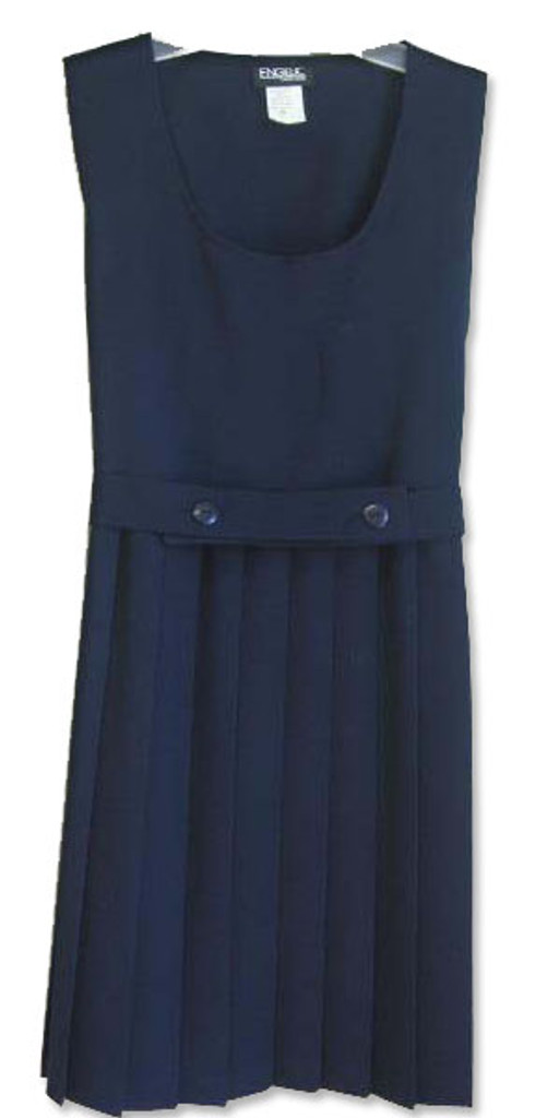 Girls School Uniform Scoop Neck Pleated Jumper