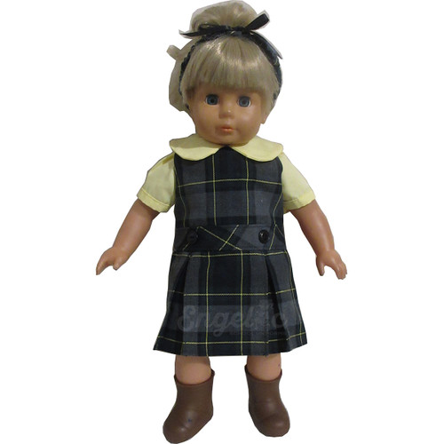Doll Uniform Low Waisted Jumper - Plaid I - Color # 48