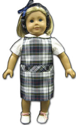 Doll Uniform Low Waisted Jumper - Plaid K - Color # 8B