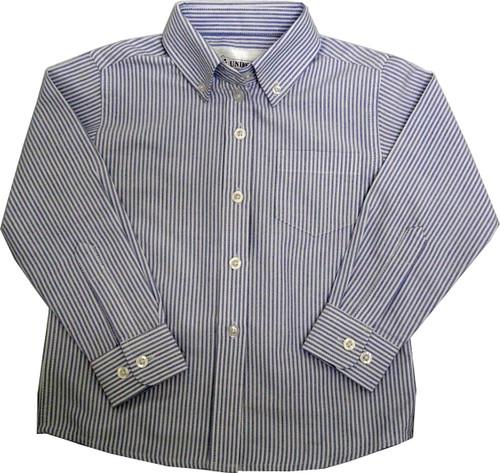 Girls Oxford Striped Blouse Blouse Blue/White