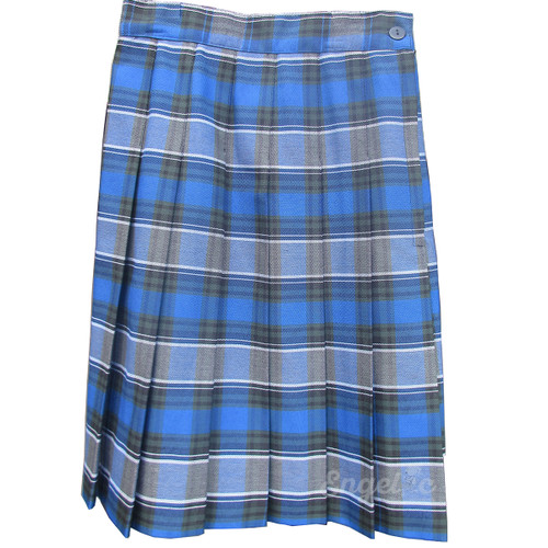 Girls School Uniform Pleated Skirt Plaid X