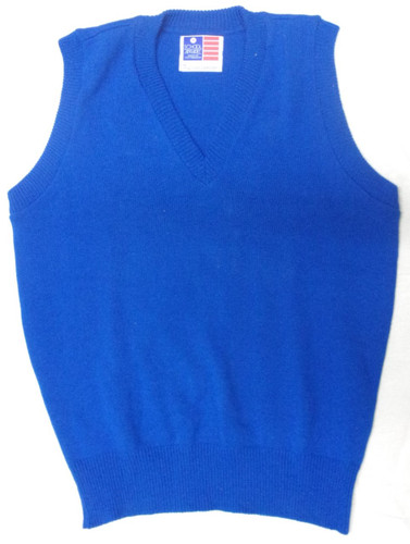 Sleeveless Sweater Vest Royal Blue Adult