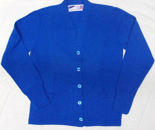 V-Neck Cardigan Sweater  Royal Blue
