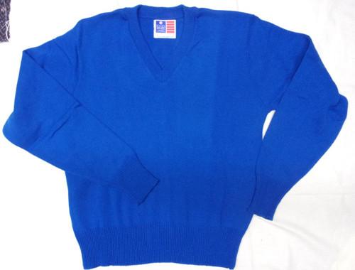 Sweater Long Sleeves Royal Blue Adult School Apparel