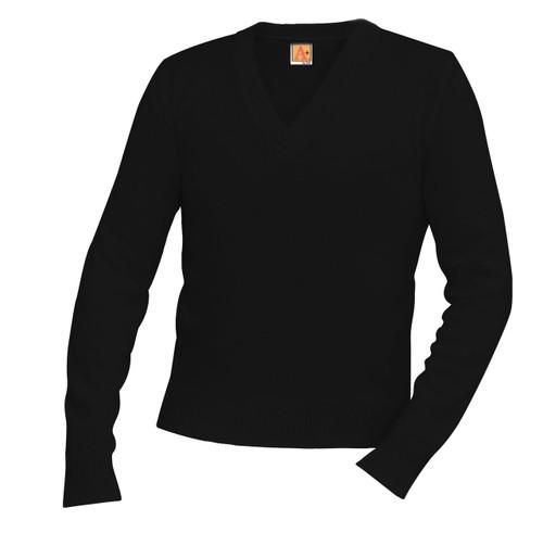 Fine Gauge Crew Neck Pullover 100% Acrylic L/S Black