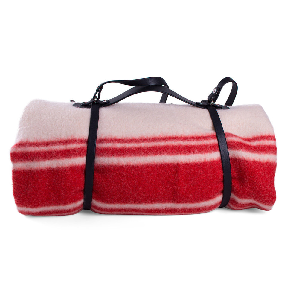 Dutch Navy Wool Blanket with Carrying Strap