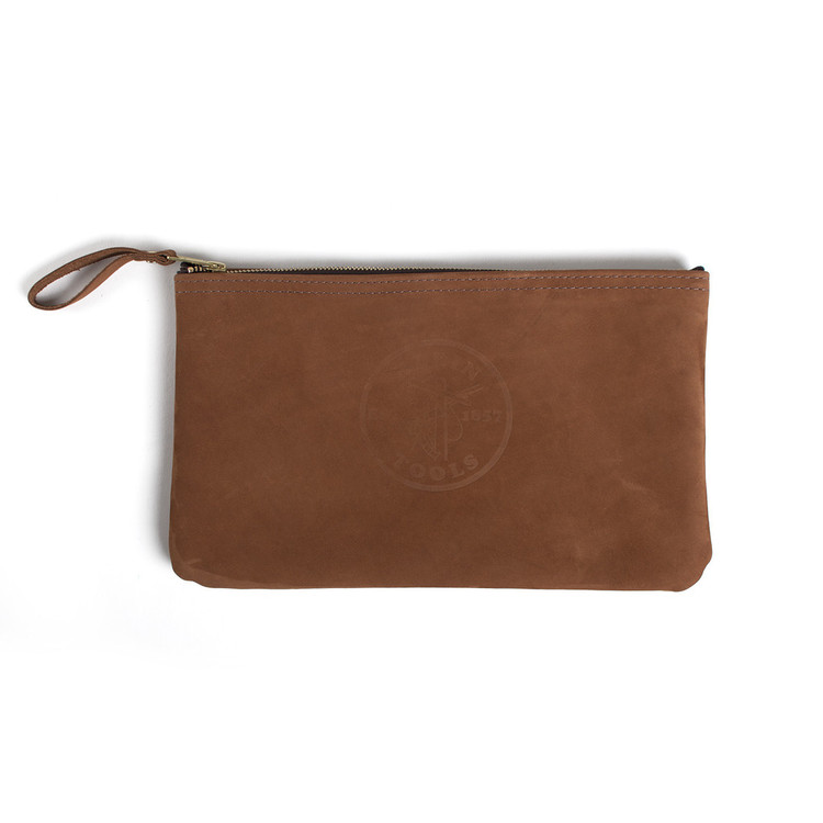 Klein Tools Leather Zip Pouch