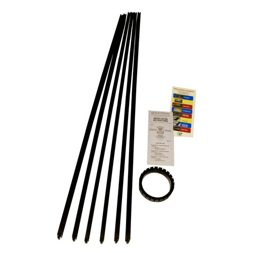 """Quick Pitch Standard Kit includes 6 standard Quick Pitch float sticks and 4"""" center ring (for round drain grate)"""