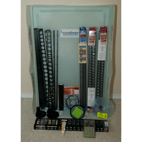 Rectangular OneLiner Complete Kit with Extensions and EBBE Drain