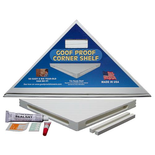 Tile Ready Corner Shelf
