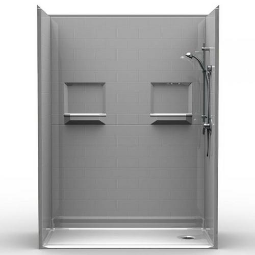 """Phoenix Shower - Subway Tile - 60""""x34""""x82"""""""