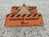 "Outpak 30"" x 30"" Concrete Washout Container"