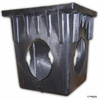 "NDS 18"" Four Hole Catch Basin Kit w/ Black Atrium Grate"