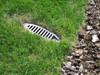 "3"" PVC Sch. 80 Mitered Drain w/Gray HDPE Grate"
