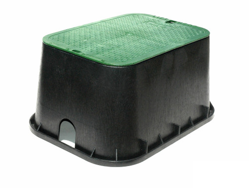 "NDS Valve Box 13"" x 20"" (Black Box / Green Cover)"