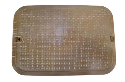 "NDS 13"" x 20"" Valve Box Cover ONLY - Sand"