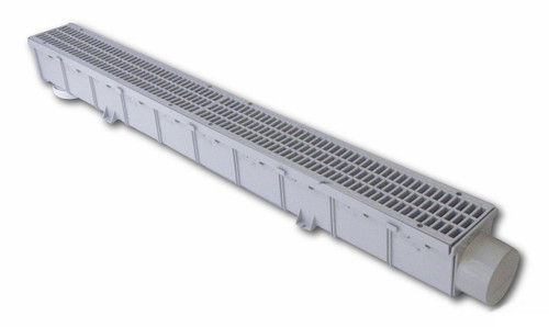 "NDS Pro Series 3"" x 1 Meter Channel Drain & Grate Kit (Each)"