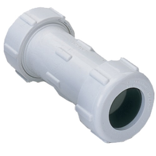 """3/4"""" IPS PVC Compression Coupling (White)"""