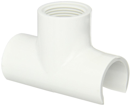 """3/4"""" x 1/2"""" PVC Schedule 40 Snap-On Saddle (IPS O.D. x FPT)"""