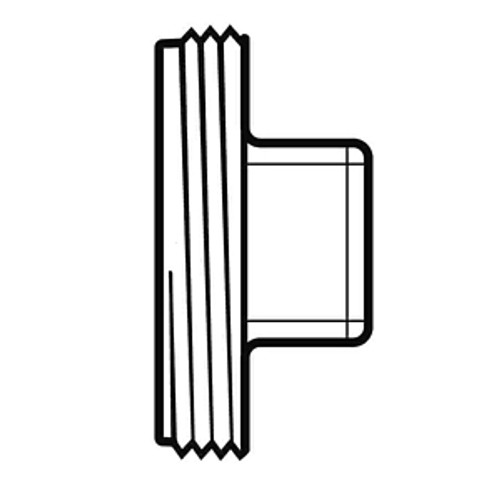 "12"" PVC SDR35 Threaded Plug (MPT)"