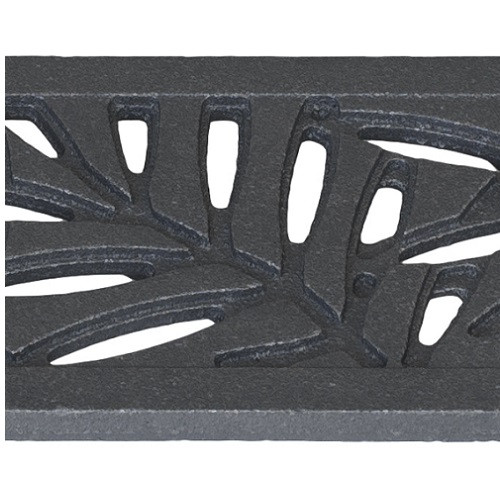 Iron Age Raw Cast Iron Mini Channel Locust Grate