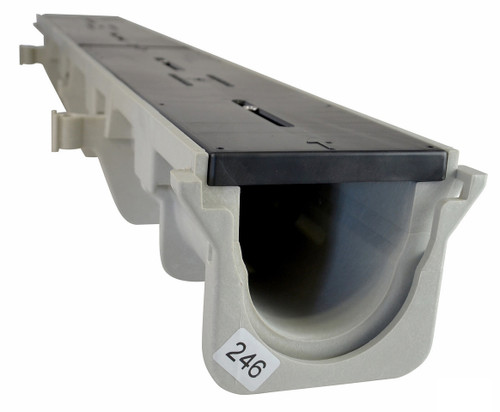 """NDS Dura Slope Channel Drain 090N (3.99"""" Neutral)"""