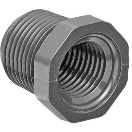 "3/4"" x 1/4"" PVC Schedule 80 Reducer Bushing (MPT x FPT)"