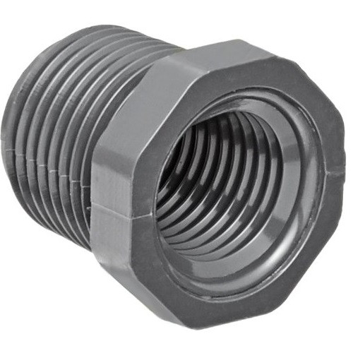 "1 1/4"" x 3/4"" PVC Schedule 80 Reducer Bushing (MPT x FPT)"
