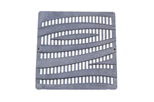 """NDS Square Decorative Wave Cast Iron Grate for 12"""" Basin"""