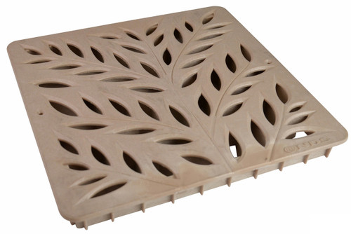 """NDS Square Decorative Botanical Grate for 12"""" Basin - Sand (Each)"""