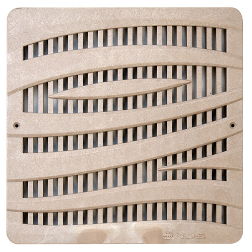 """NDS Square Decorative Wave Grate for 12"""" Basin - Sand (Each)"""