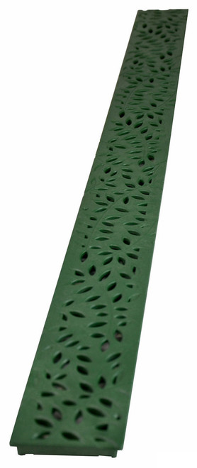 NDS Mini Channel Decorative Botanical Grate - Green (Each)