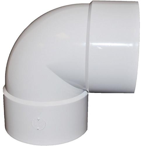 """12"""" PVC SDR35 Solvent Weld Short Turn 90 (1/4) (S x S)"""