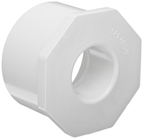 "1 1/4"" x 1/2"" PVC Schedule 40 Reducer Bushing (Sp x S)"