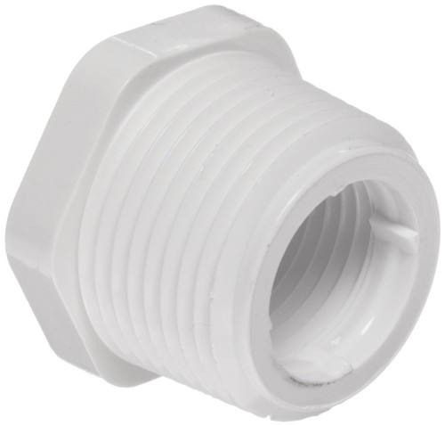 "1 1/2"" x 3/4"" PVC Schedule 40 Reducer Bushing (MPT x FPT)"