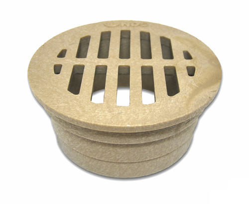 "NDS  3"" Round Grate - Sand (Each)"