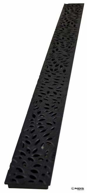 NDS Mini Channel Decorative Botanical Grate - Black (Box of 16)
