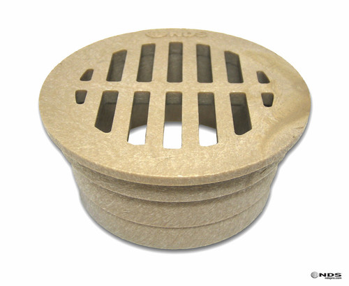 "NDS  3"" Round Grate - Sand (Box of 40)"