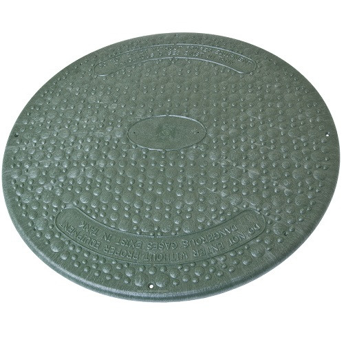 """24"""" Structural Foam Solid Septic Riser Cover - Green"""