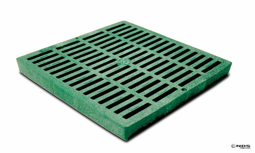 "NDS Square Plastic Grate for 12"" Basin - Green (Box of 8)"