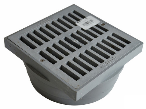 "NDS  6"" X 6"" X 6"" Square Grate & Adapter - Gray"
